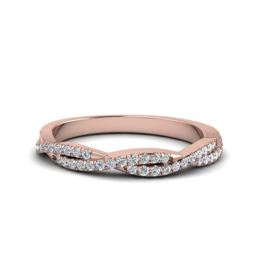 Shop Wedding Rings | Fascinating Diamonds Inside Recent Diamond Twist Anniversary Bands In 10K Rose Gold (View 13 of 15)