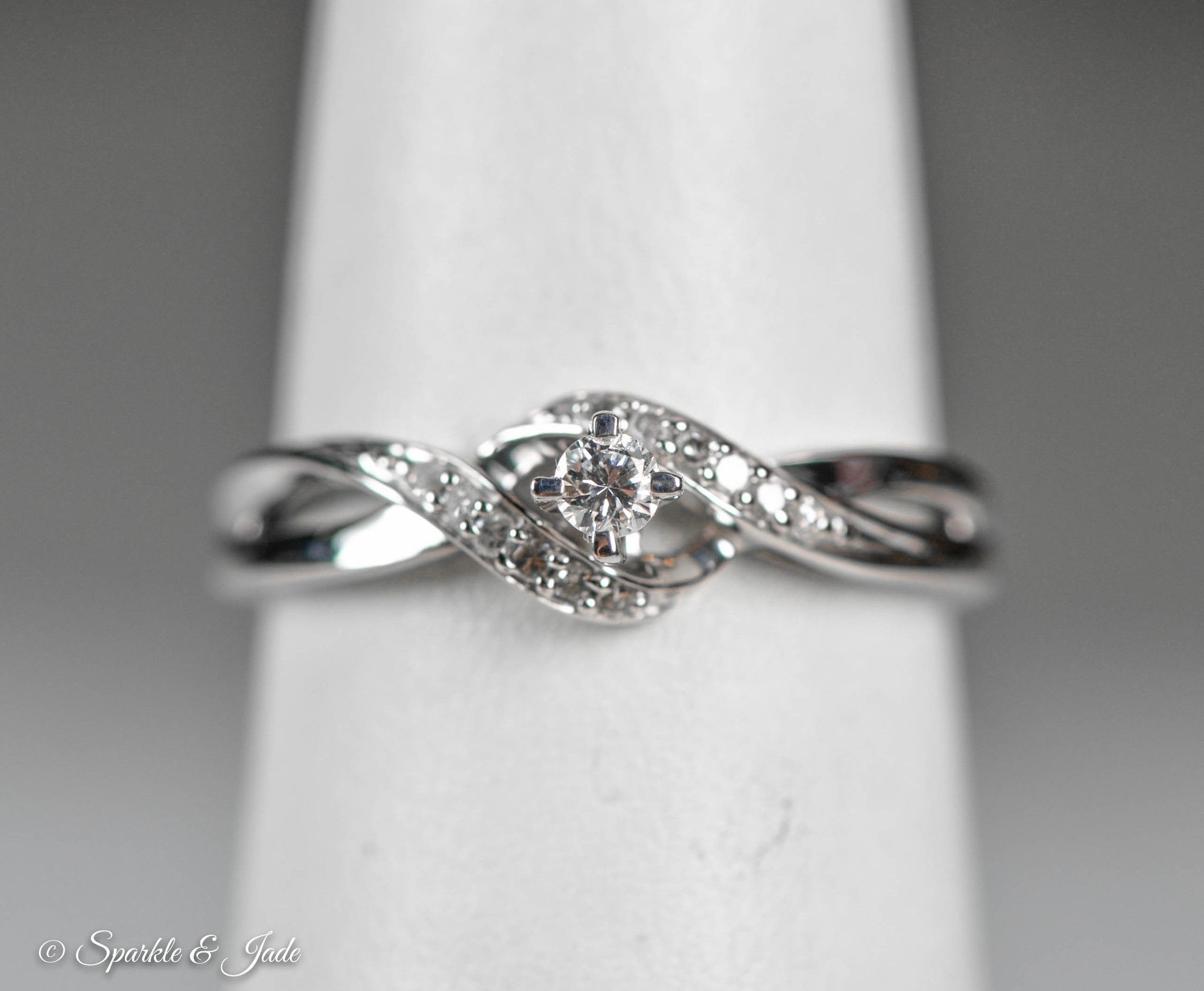 Sterling Silver Diamond Twist Promise Ring | Diamond Promise Rings Regarding Most Recently Released Diamond Twist Rings In Sterling Silver (View 13 of 15)