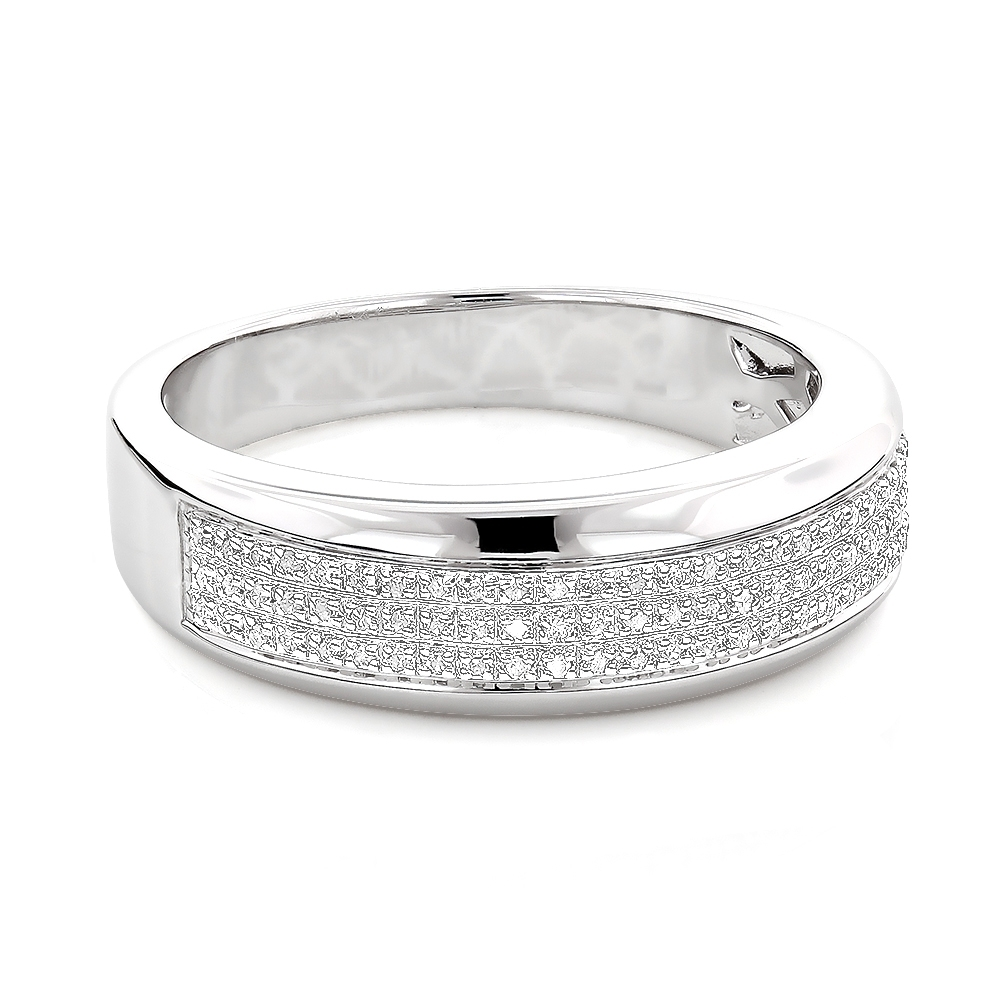 Sterling Silver Wedding Bands: Mens Diamond Ring 0.18Ct Intended For Best And Newest Diamond Anniversary Bands In Sterling Silver (Gallery 2 of 15)