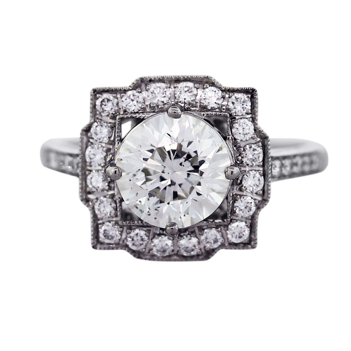 The Newest Trend: Art Deco & Vintage Style Engagement Rings Throughout Most Recent Diamond Art Deco Vintage Style Anniversary Bands (View 11 of 15)