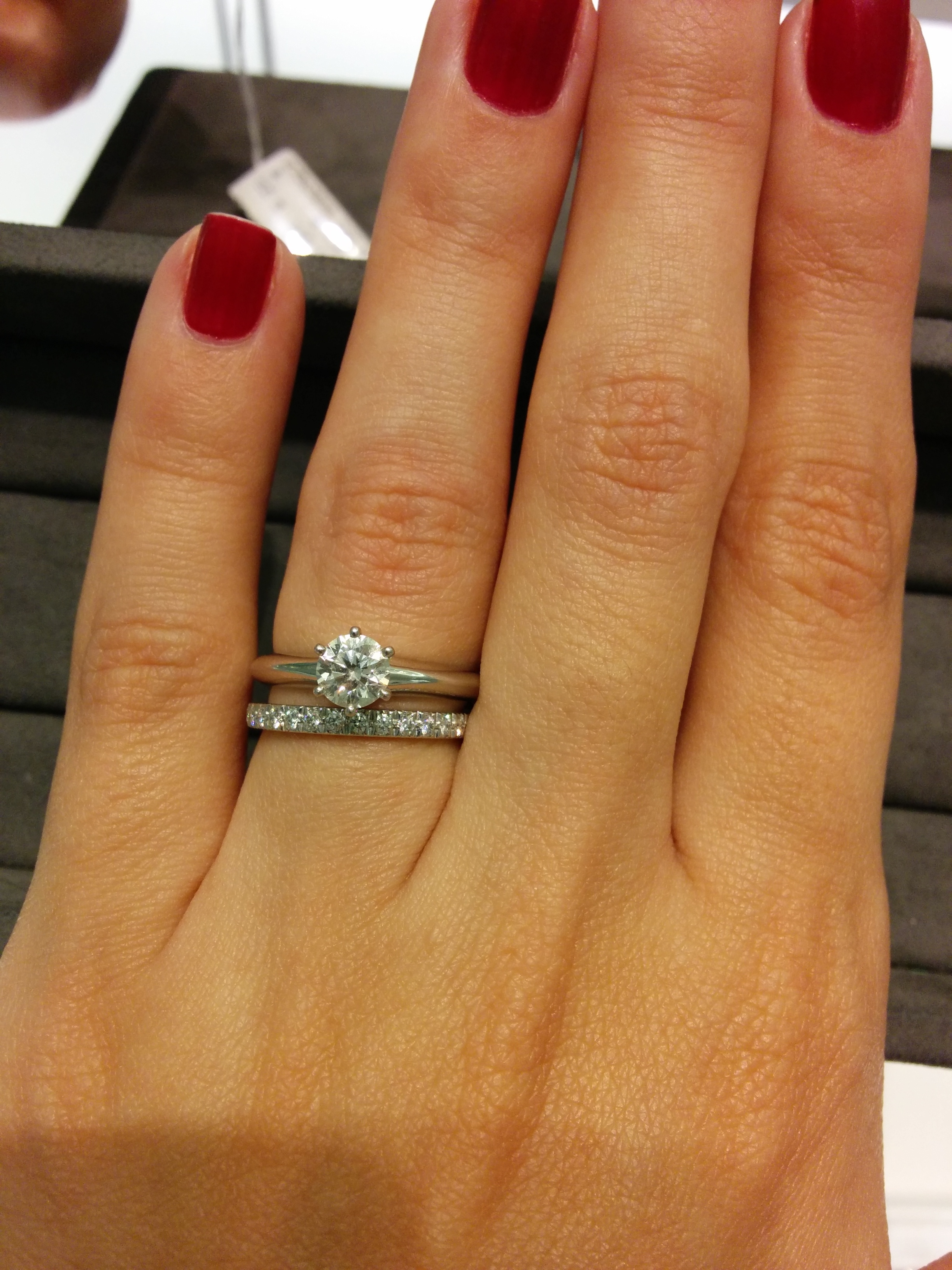 Tiffany Setting + Wedding Bands Intended For Recent Tiffanys Wedding Bands (View 12 of 15)