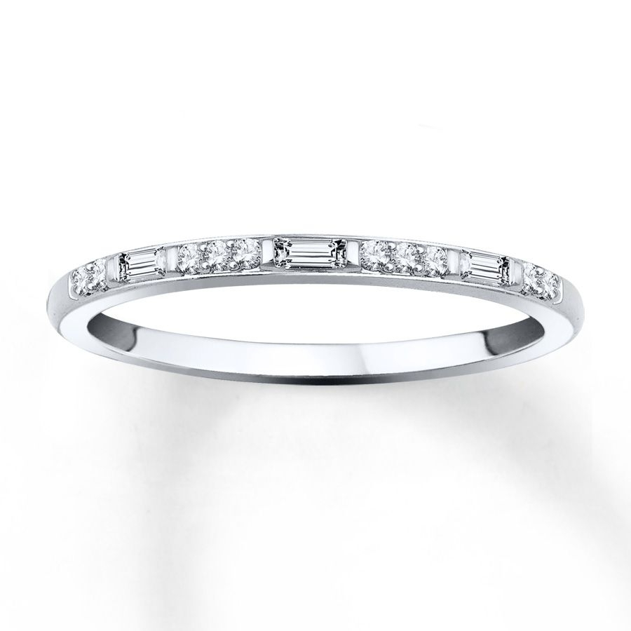 Trios Of Round Diamonds Alternate With Baguette Diamonds To Create Intended For 2017 Diamond Alternating Vintage Style Eternity Wedding Bands In 10K White Gold (View 13 of 15)