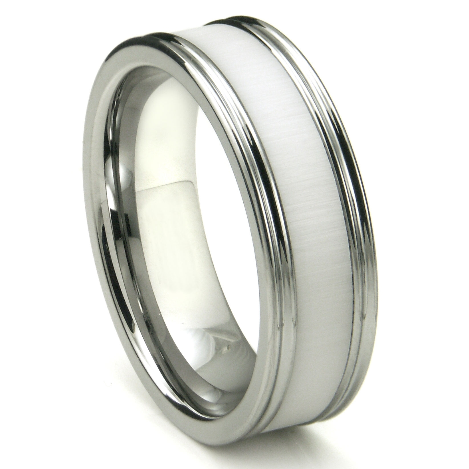 Featured Photo of White Ceramic Wedding Bands