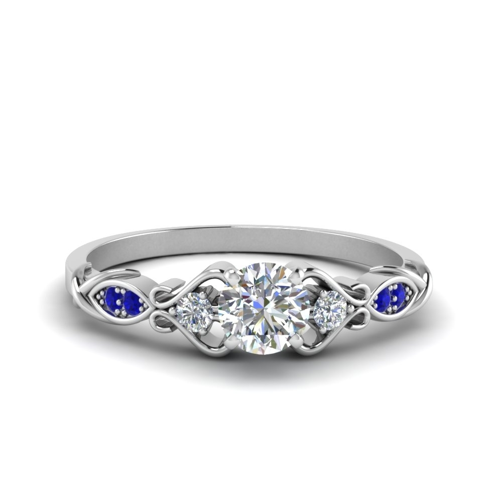 Featured Photo of Vintage Style Sapphire Engagement Rings