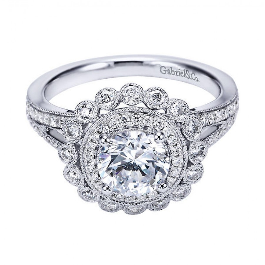 Vintage Style Diamond Ring Settings Vintage Engagement Rings Pmvjykn Regarding 2017 Vintage Style Diamond Wedding Rings (Gallery 5 of 15)