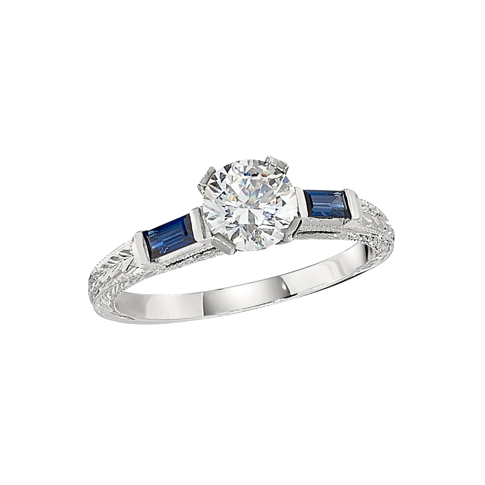 Vintage Style Engagement Ring Settings With Recent Vintage Style Sapphire Engagement Rings (View 10 of 15)