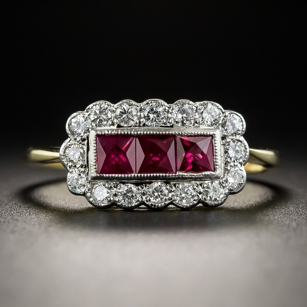 Featured Photo of Vintage Style Ruby And Diamond Rings