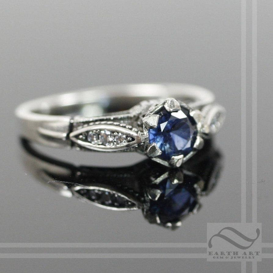 Vintage Style Sapphire And Diamond Engagement Ringmooredesign13 Intended For 2017 Vintage Style Sapphire Engagement Rings (Gallery 4 of 15)