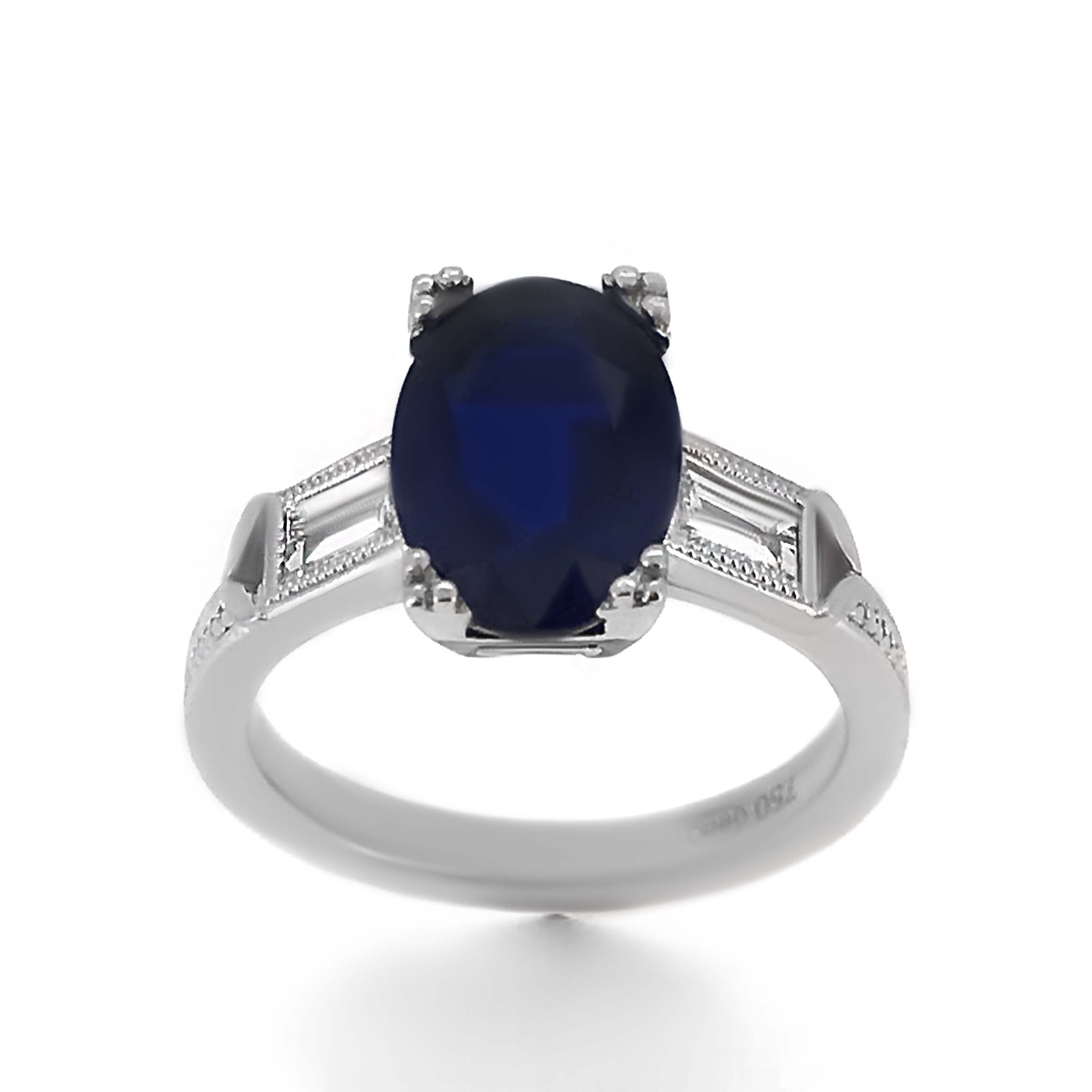 Vintage Style Sapphire Engagement Ring – Haywards Of Hong Kong Within Latest Vintage Style Sapphire Engagement Rings (View 15 of 15)