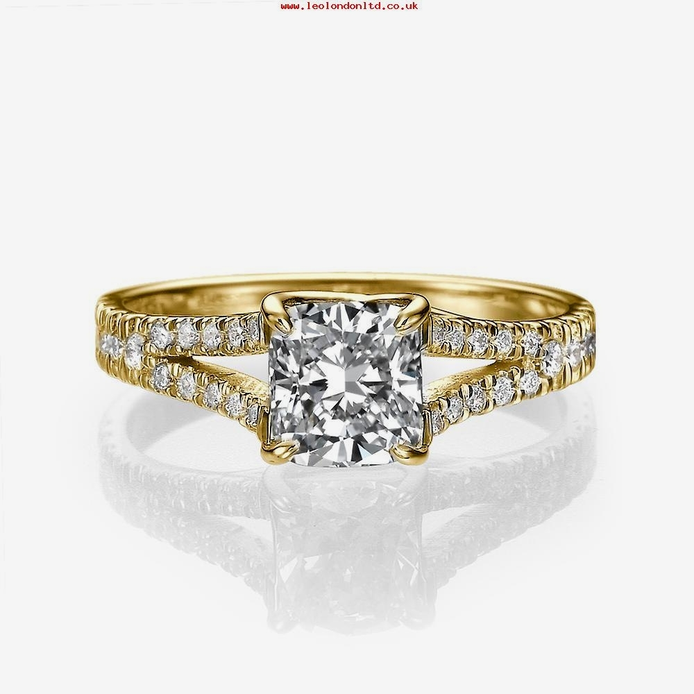 Vintage White Gold Engagement Rings Fresh 1 4 Ct T W Posite Diamond For 2018 Diamond Octagon Frame Vintage Style Engagement Rings In 14K White Gold (View 12 of 15)