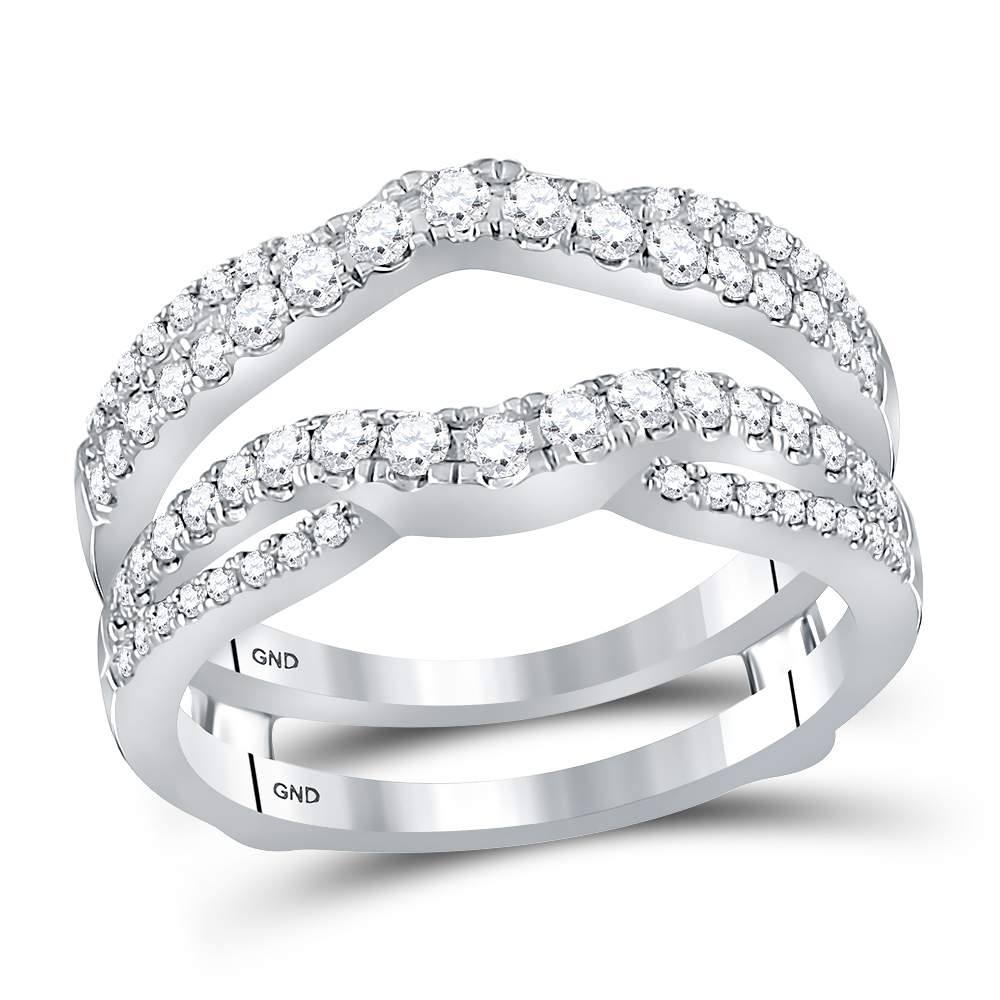 Waldin Jewelers Inside Most Popular Diamond Contour Solitaire Enhancers In 14K White Gold (Gallery 9 of 15)
