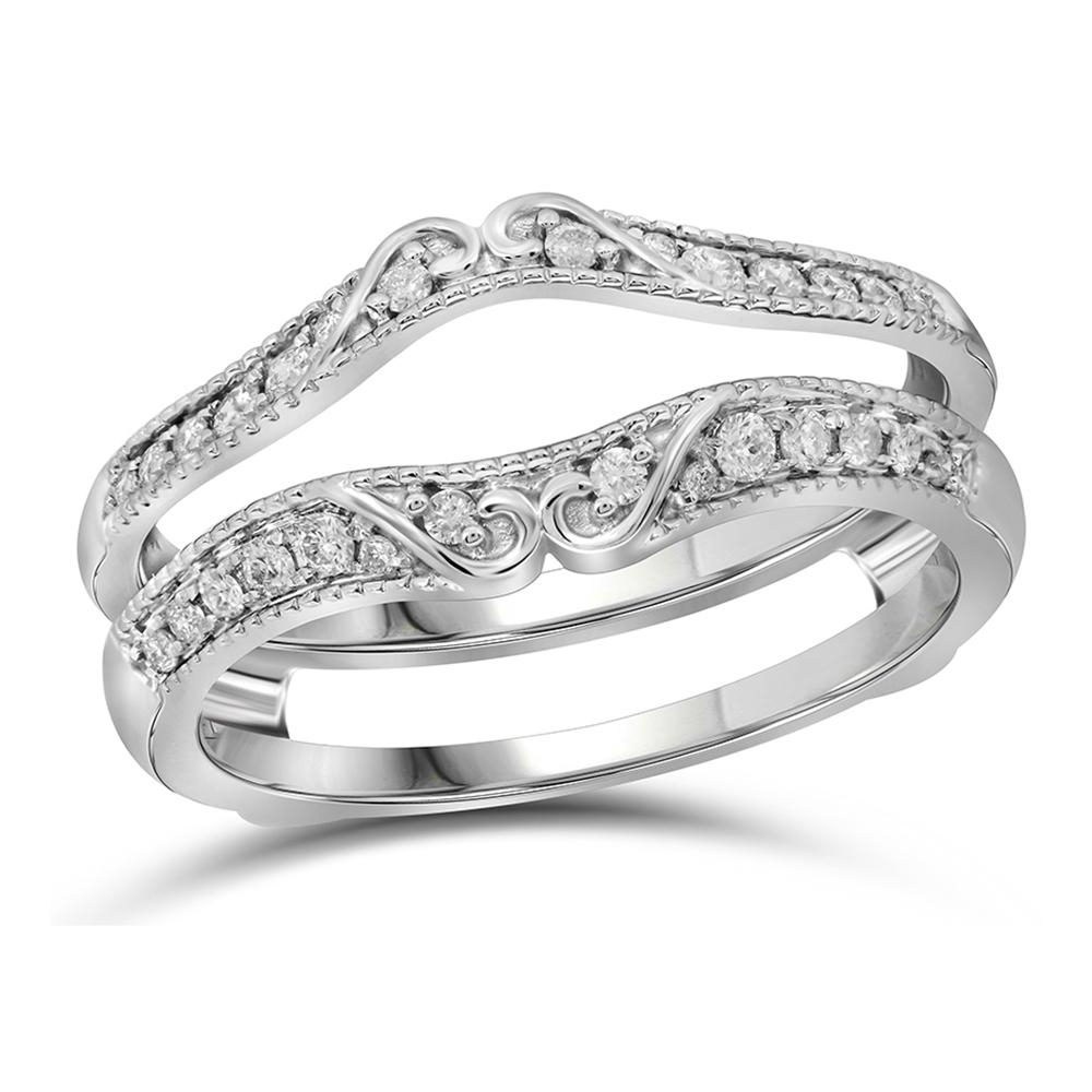 Waldin Jewelers Pertaining To Most Recent Diamond Contour Solitaire Enhancers In 14K White Gold (View 12 of 15)