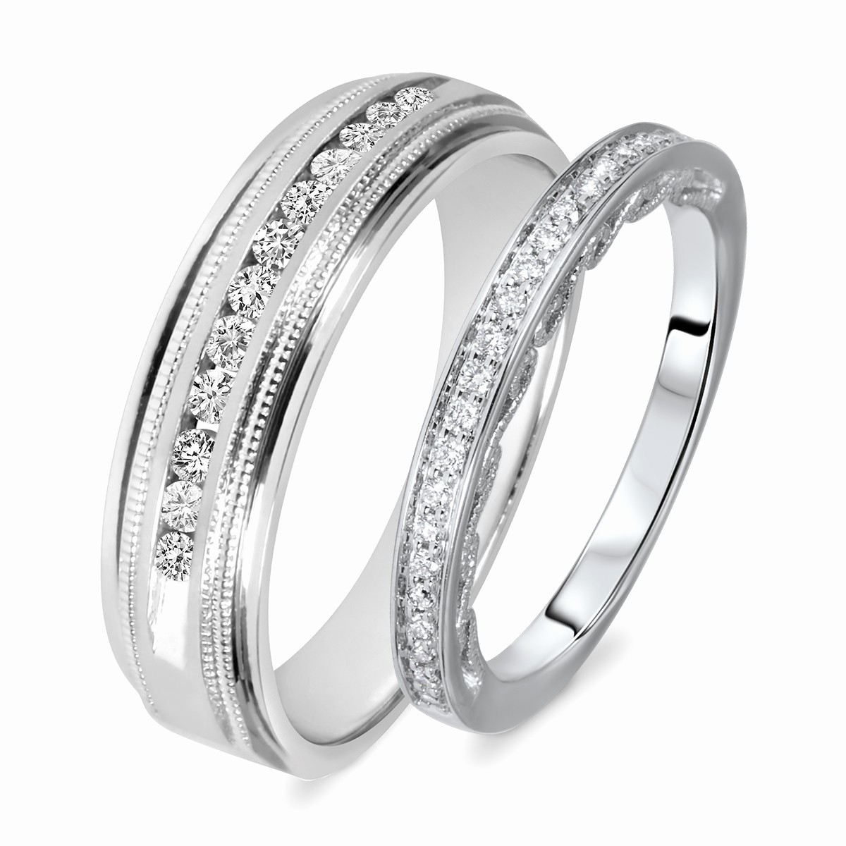 Wedding Bands Sets His And Her Matching Elegant Wedding Bands Sets Inside Newest His And Her Wedding Bands Sets (Gallery 6 of 15)