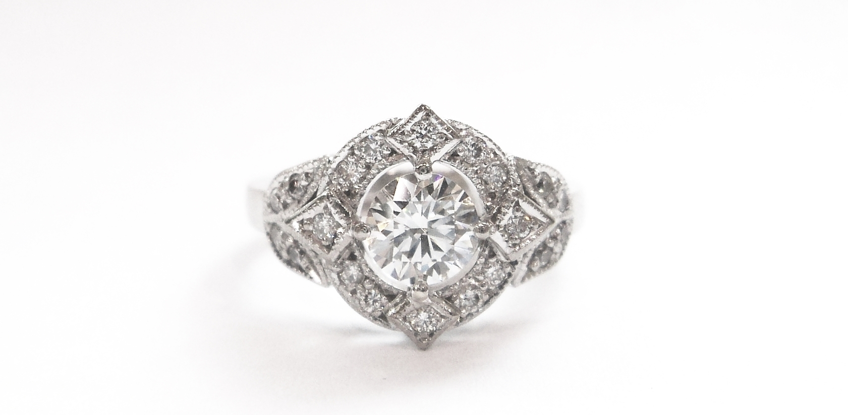 What Is An Art Deco Engagement Ring? Intended For Latest Diamond Art Deco Vintage Style Anniversary Bands (View 14 of 15)