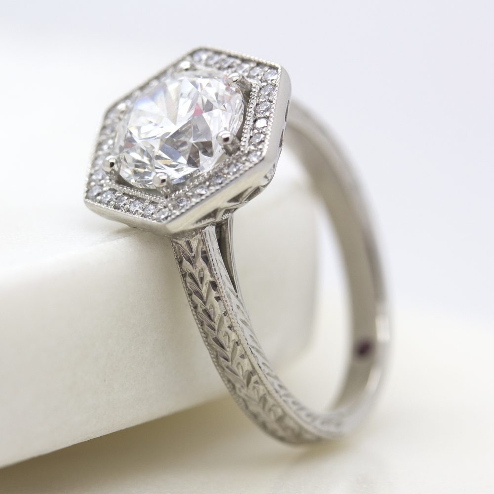 What's Possible With Custom? Intended For Recent Diamond Hexagonal Frame Vintage Style Wedding Bands (View 15 of 15)