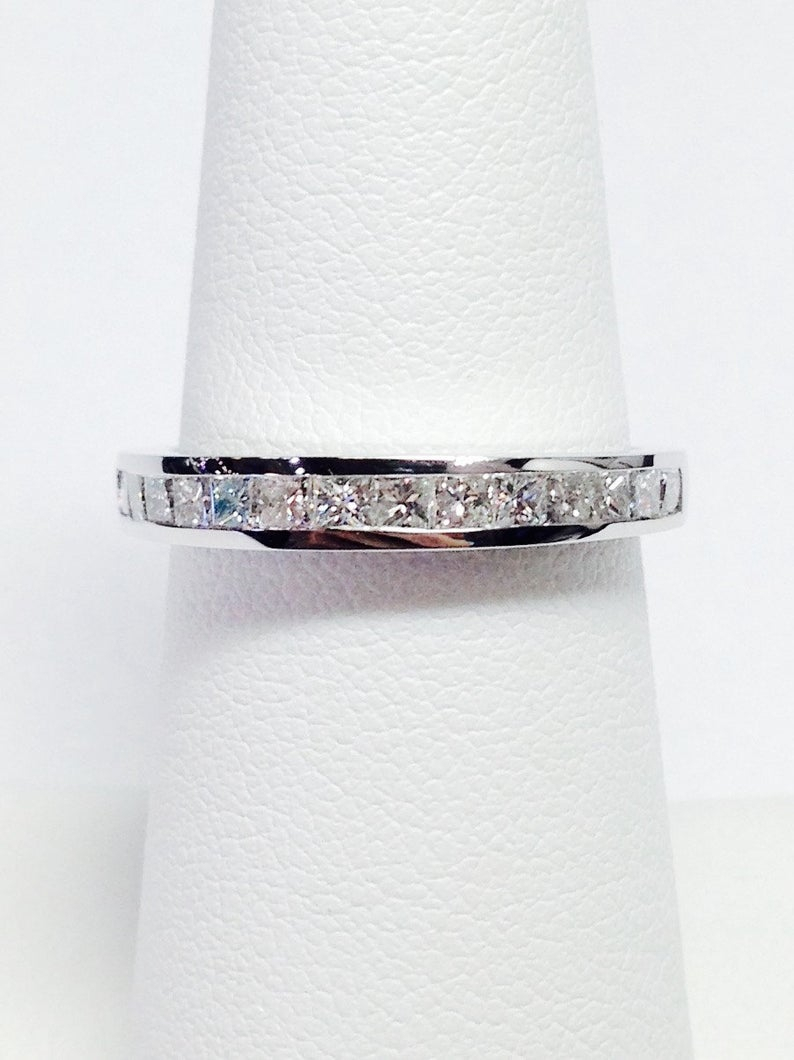 0.25Ct 2.00Ct Diamond T.w. Princess Cut Diamonds Anniversary Ring Band  Wedding Bands Stackable Rings Platinum 18K 14K White Yellow Rose Gold Pertaining To 2020 Princess Cut Diamond Anniversary Bands In White Gold (Gallery 23 of 25)