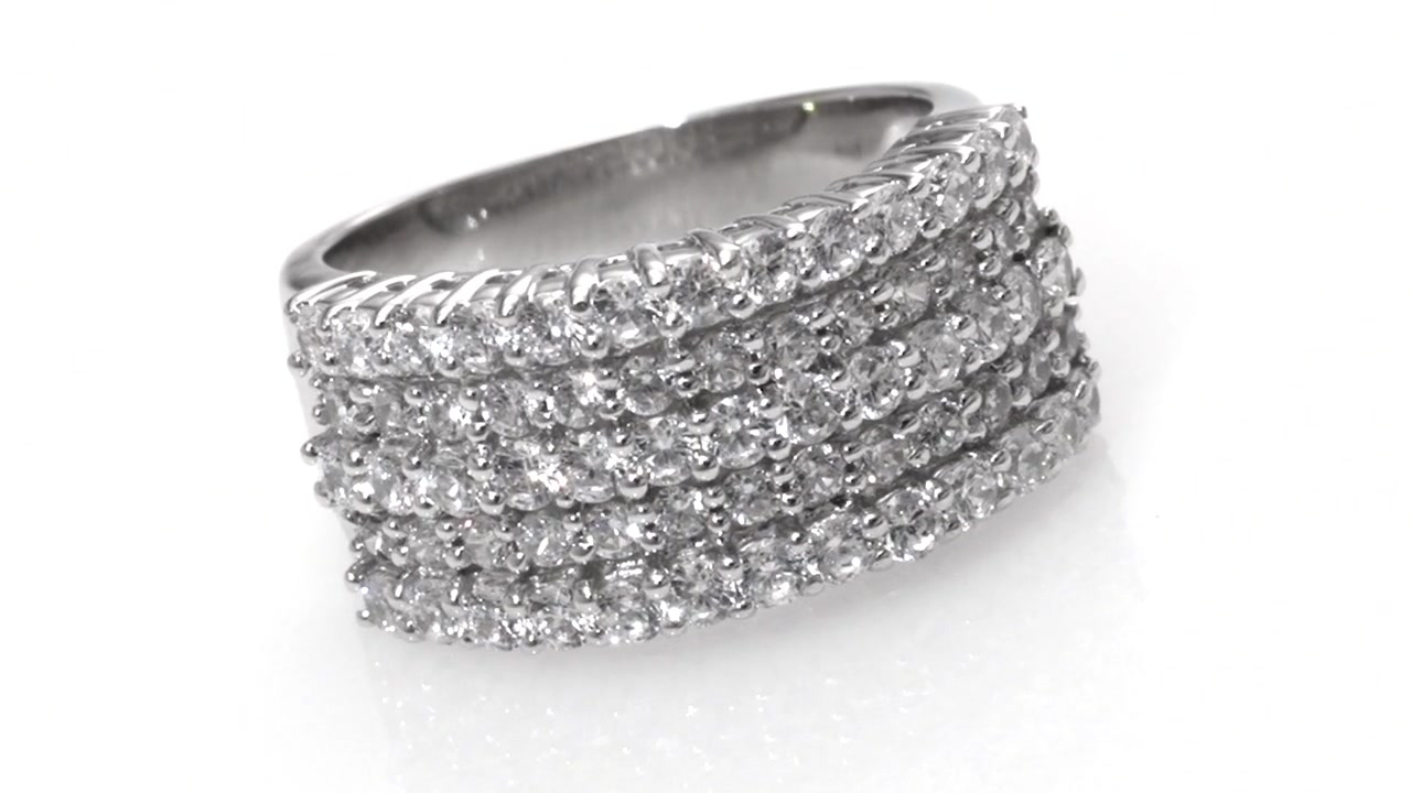 Featured Photo of Diamond Five Row Anniversary Rings In White Gold
