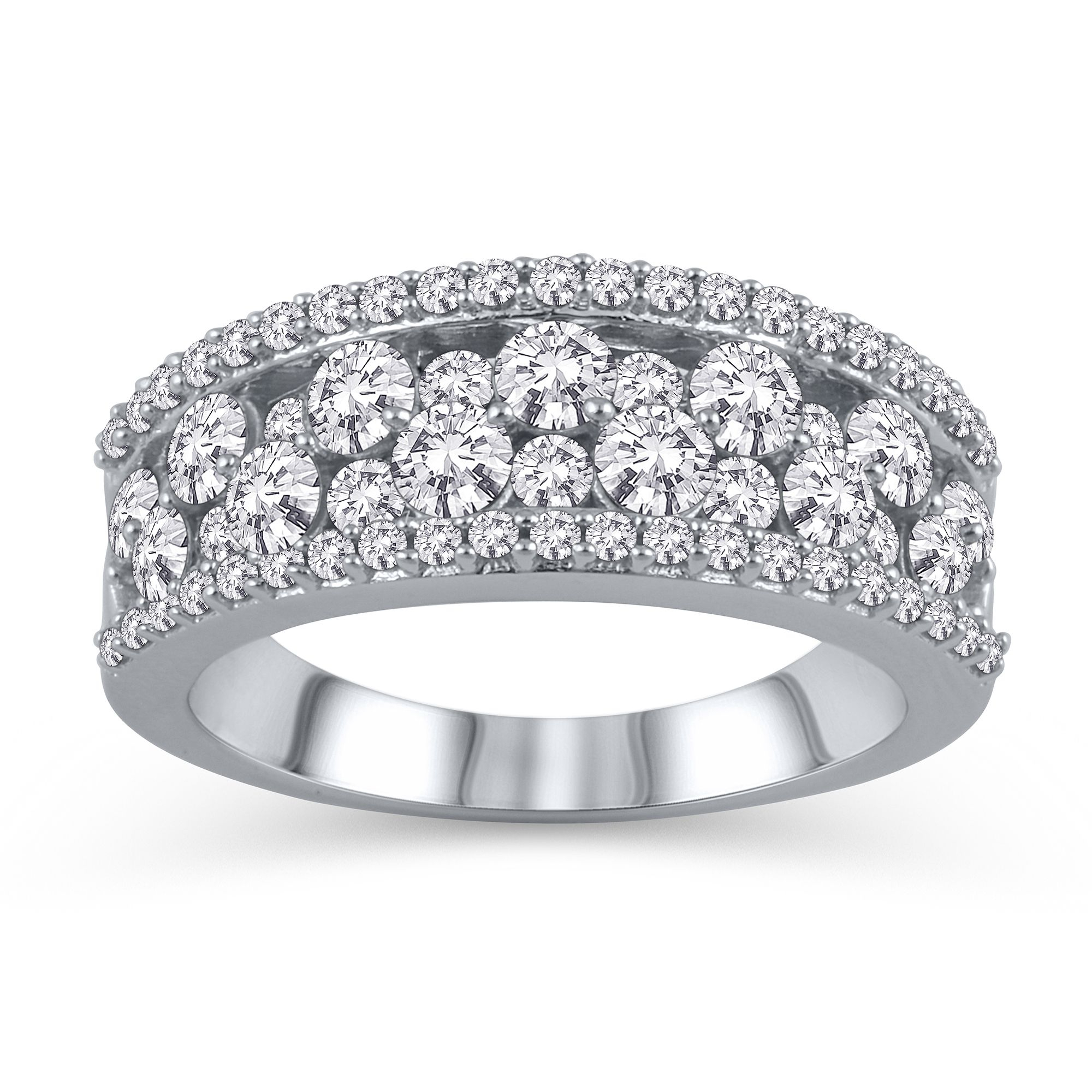Featured Photo of Diamond Layered Anniversary Ring In White Gold