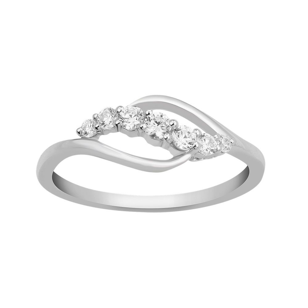 1/4 Ct Round Cut Real Diamond 925 Sterling Silver Seven Regarding Most Current Diamond Seven Stone Anniversary Bands In Sterling Silver (View 16 of 25)
