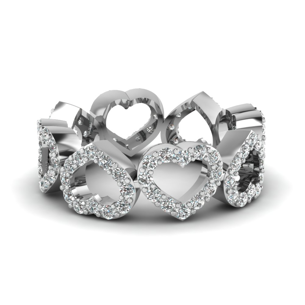 1 Carat Diamond Eternity Band Within Newest Band Of Hearts Rings (View 2 of 25)