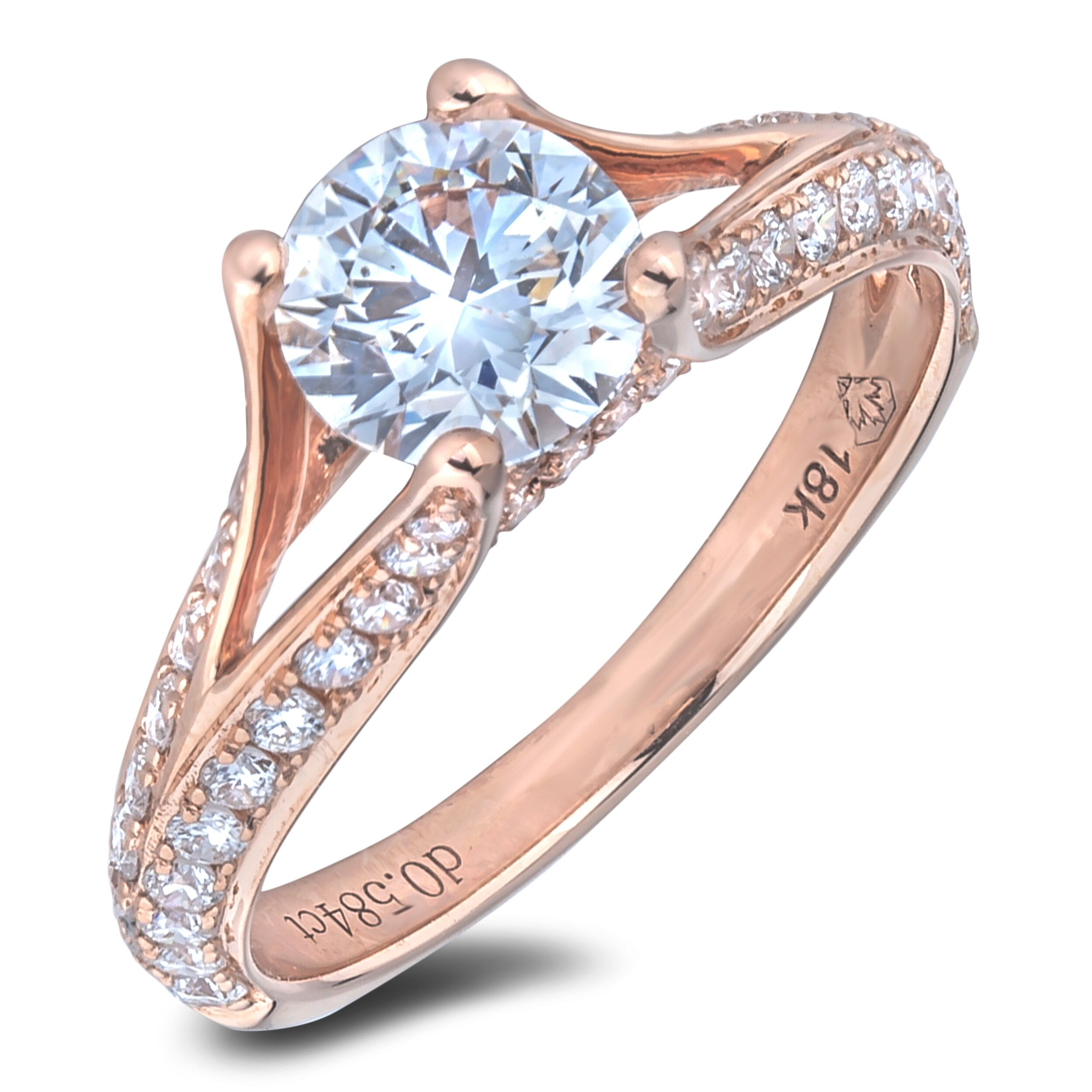 1 Carat Gia Certified Diamond Engagement Ring Within 2019 Certified Diamond Anniversary Bands In Rose Gold (View 17 of 25)