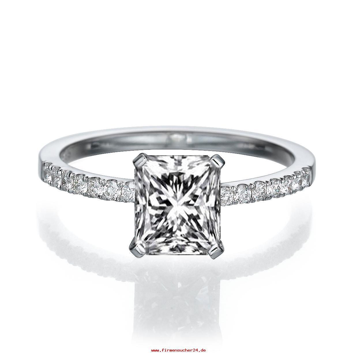 1 Karat H Si2 Diamant Verlobungsring 14K White Gold Micro Pave With Newest Polished & Pavé Bead Open Rings (View 1 of 25)