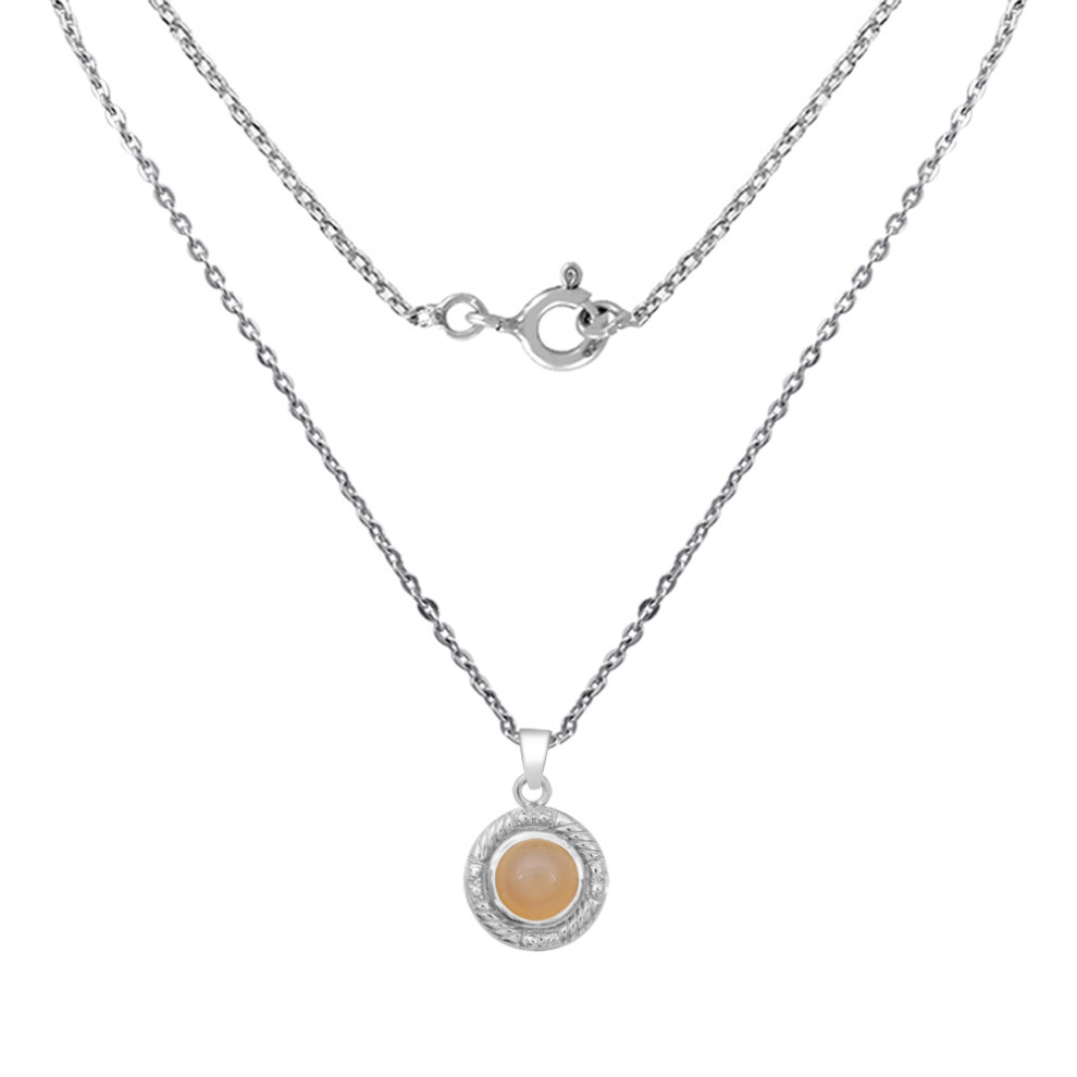10 Ctw Orange Moonstone Pendantorchid Jewelry Moonstone Jewellery Charm  Pendant Necklace Sterling Silver Pendant Necklace Grey Pendant With 2019 Grey Moonstone June Droplet Pendant Necklaces (Gallery 10 of 25)