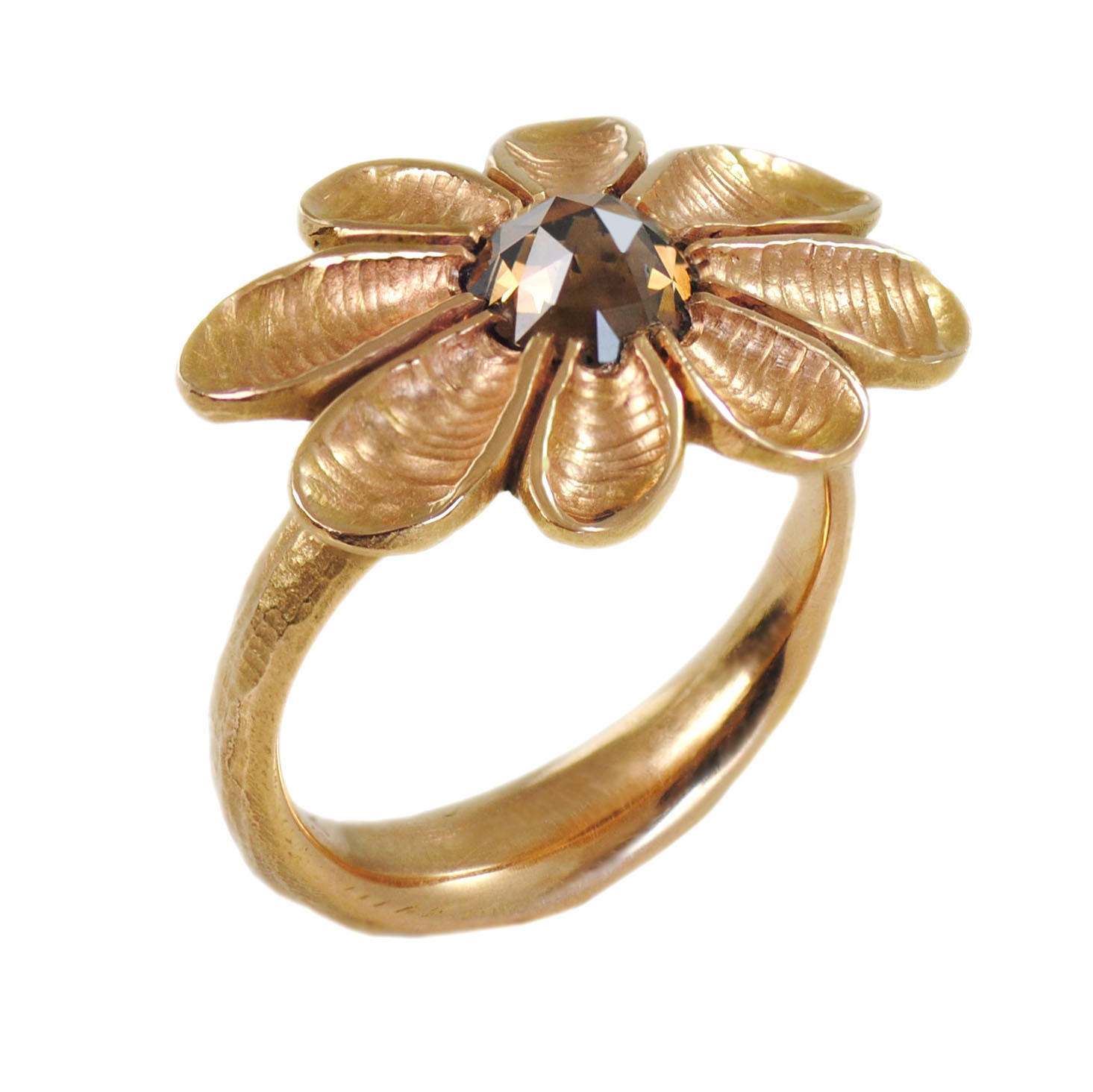 100 00550 Throughout Most Popular Pavé Flower Rings (View 14 of 25)