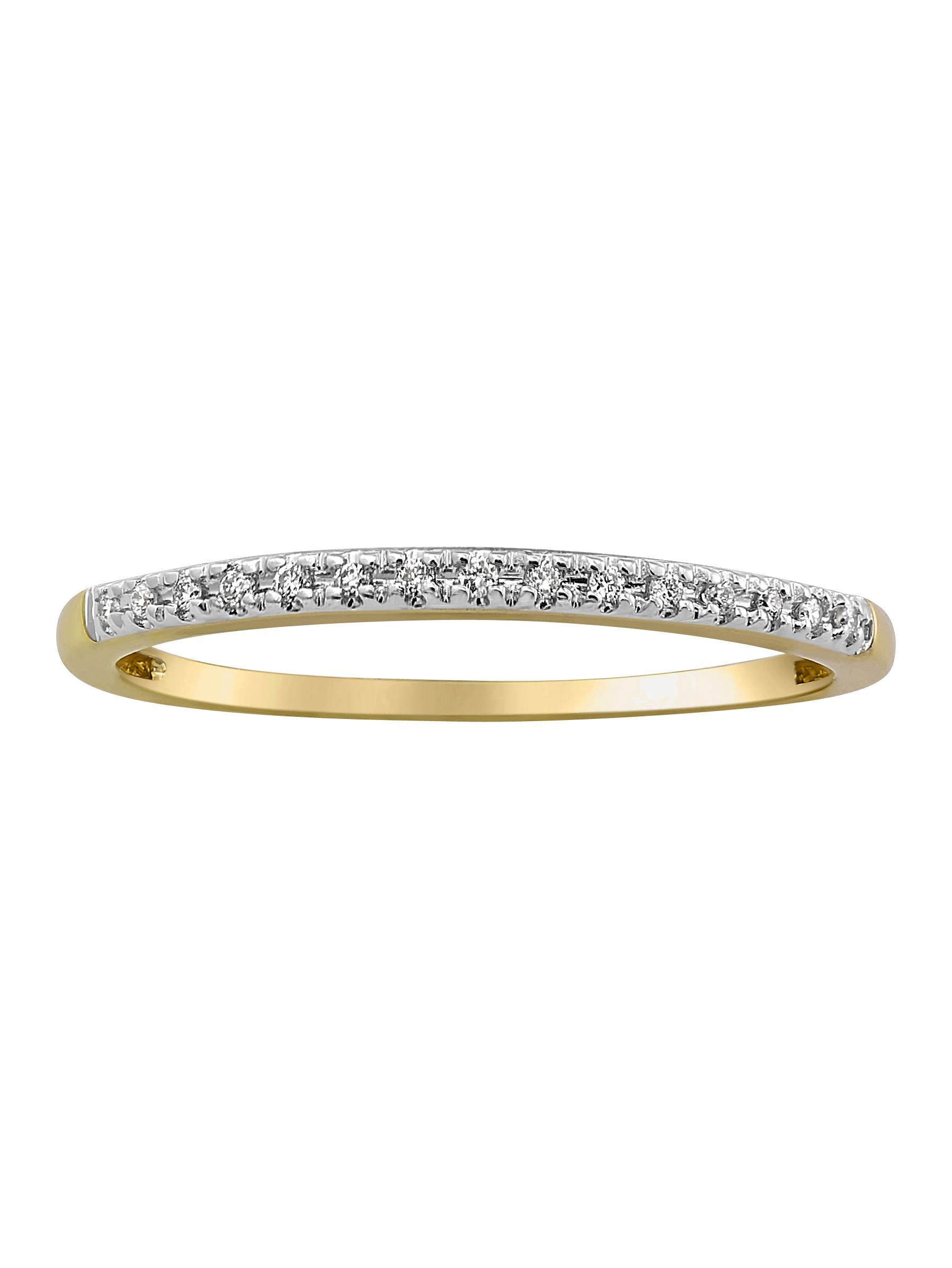 10kt Yellow Gold Diamond Accent Anniversary Band Ring Within Most Recent Diamond Accent Anniversary Bands In Gold (View 5 of 25)