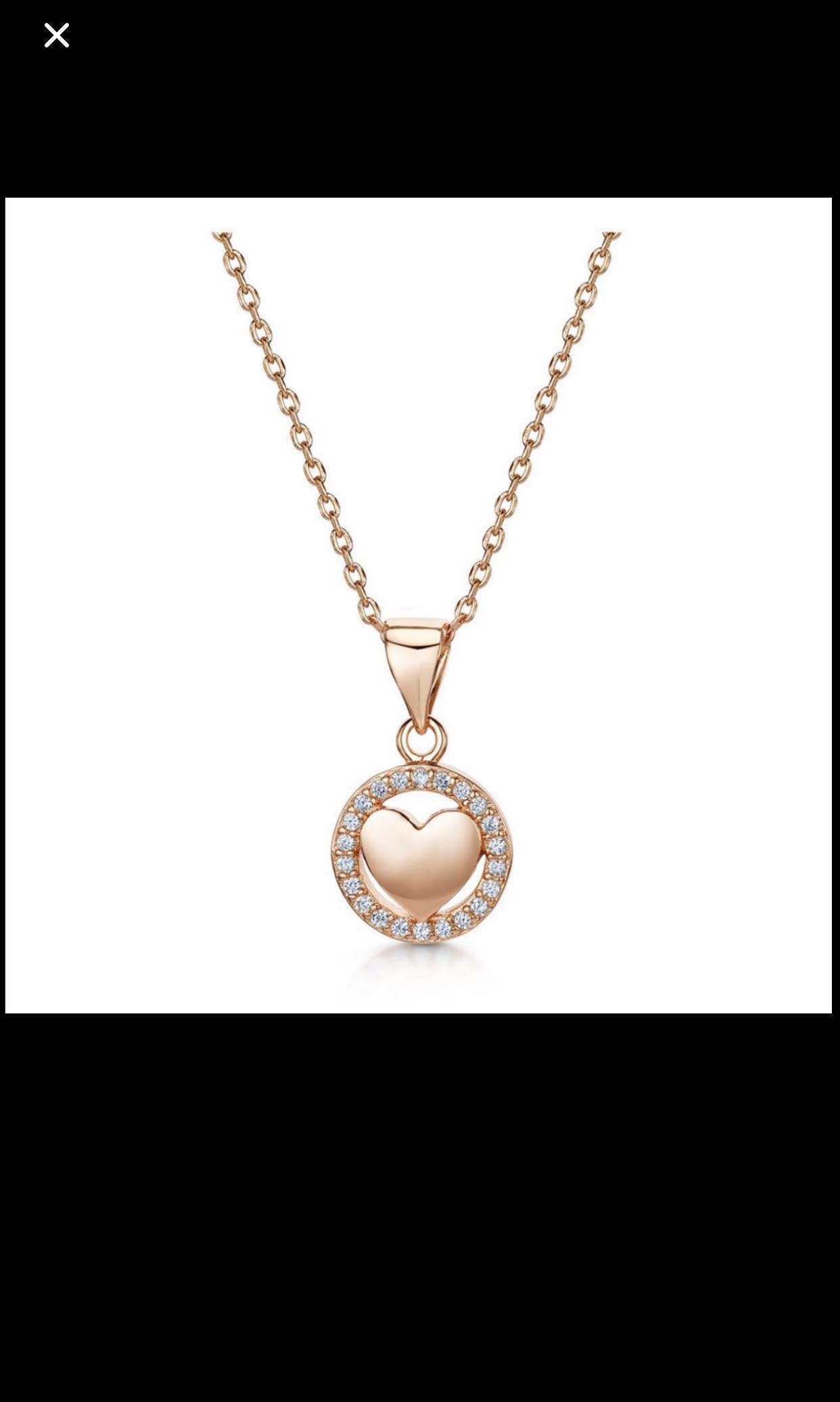 12.12 ✨Love X Infinity Co Necklace ( Plated With 18K Rose Gold)✨ Free  Postage ✨ Regarding Recent Sparkling Infinity Locket Element Necklaces (Gallery 12 of 25)