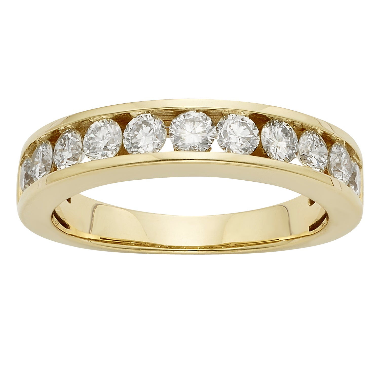 14K Certified 1Ct Diamond Wedding/anniversary Band Intended For Most Popular Certified Diamond Anniversary Bands In Gold (View 4 of 25)