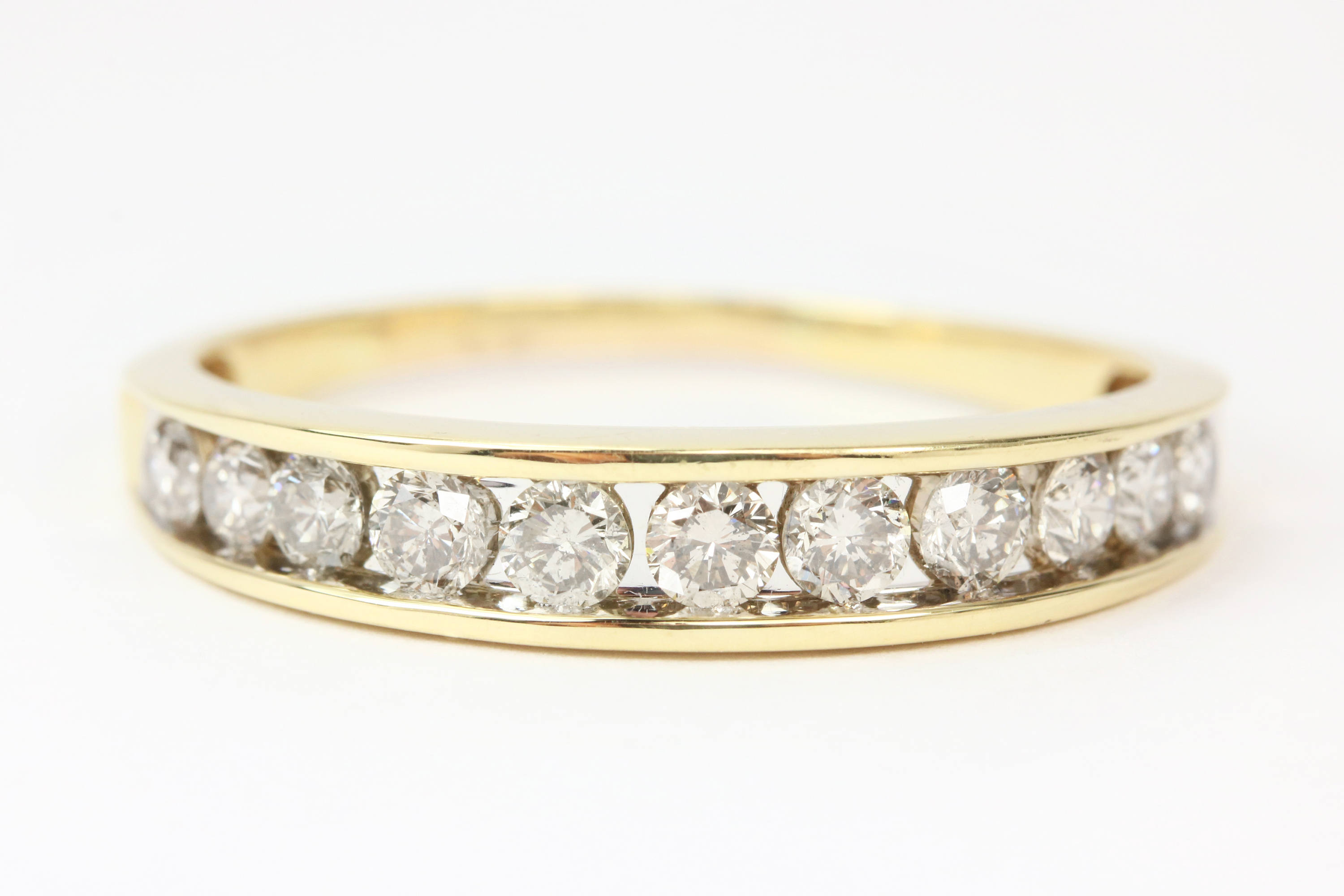 14K Champagne Diamond Mens Wedding Band Regarding 2020 Champagne Diamond Anniversary Bands In White Gold (View 2 of 25)