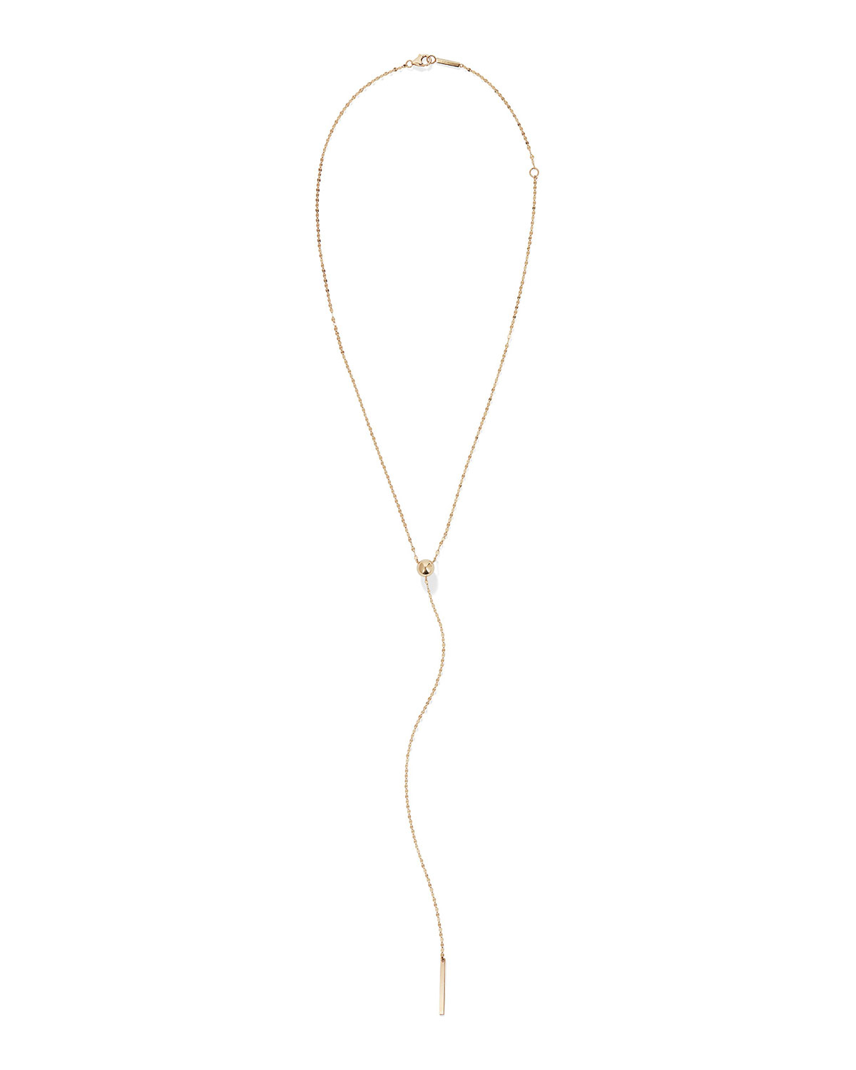 14k Gold Bead Y Drop Lariat Necklace With Regard To Most Recently Released String Of Beads Y Necklaces (View 6 of 25)
