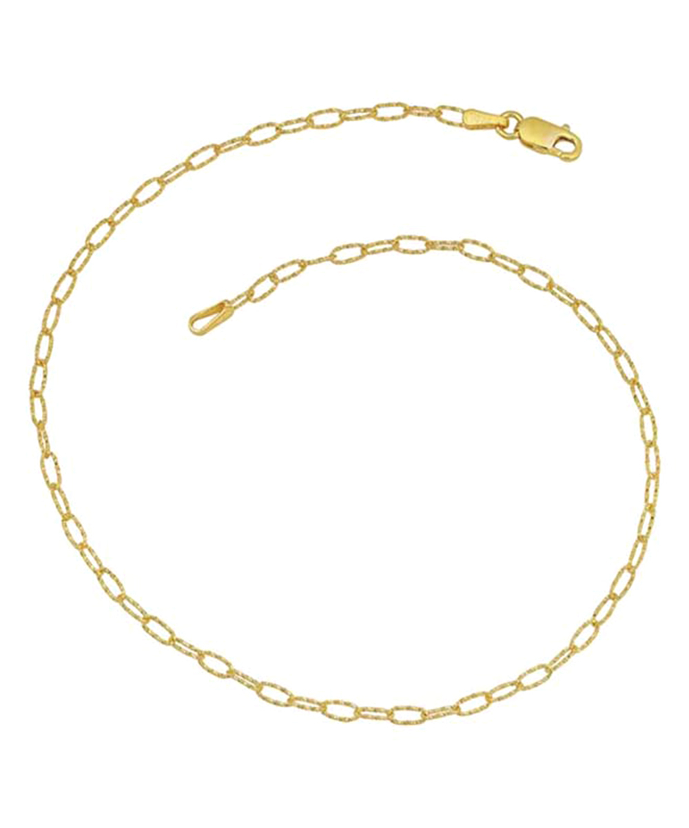 14K Gold Diamond Cut Anchor Chain Necklace With Regard To Newest Classic Anchor Chain Necklaces (View 2 of 25)
