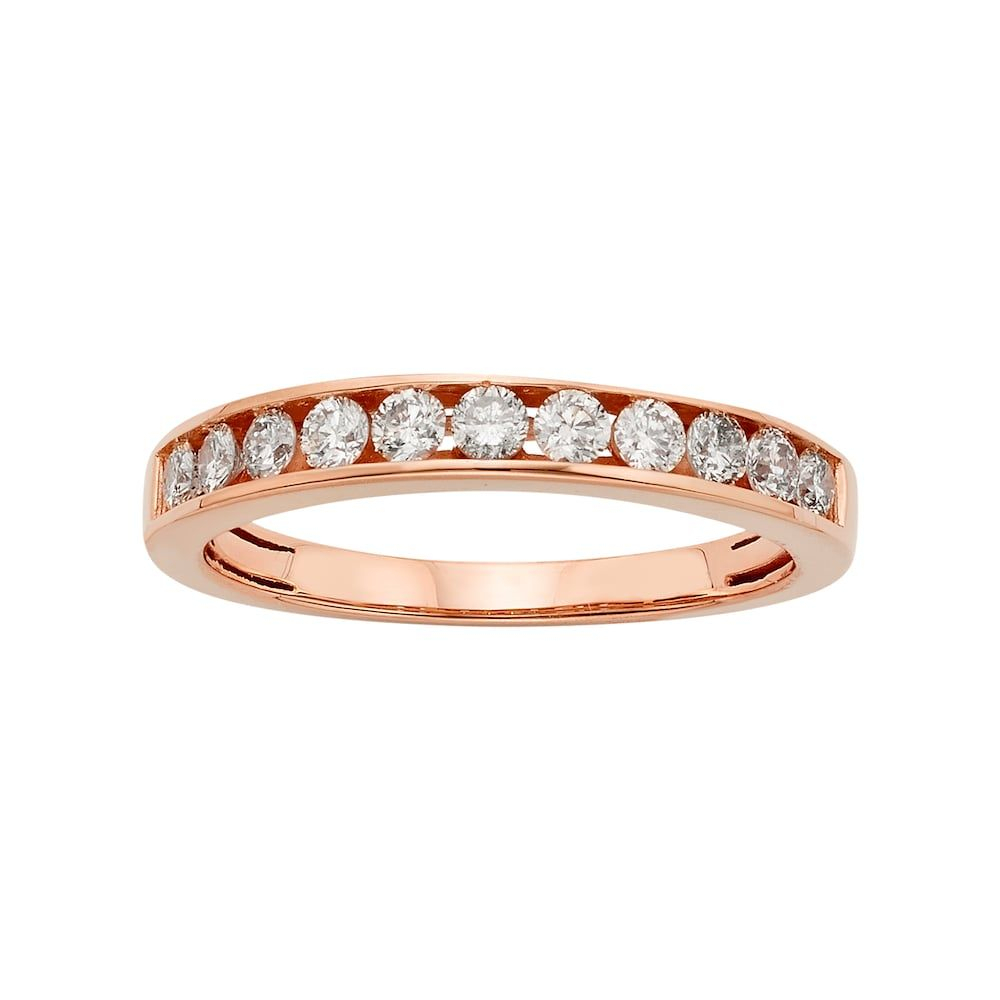 14K Rose Gold 1/2 Carat T.w (View 5 of 25)