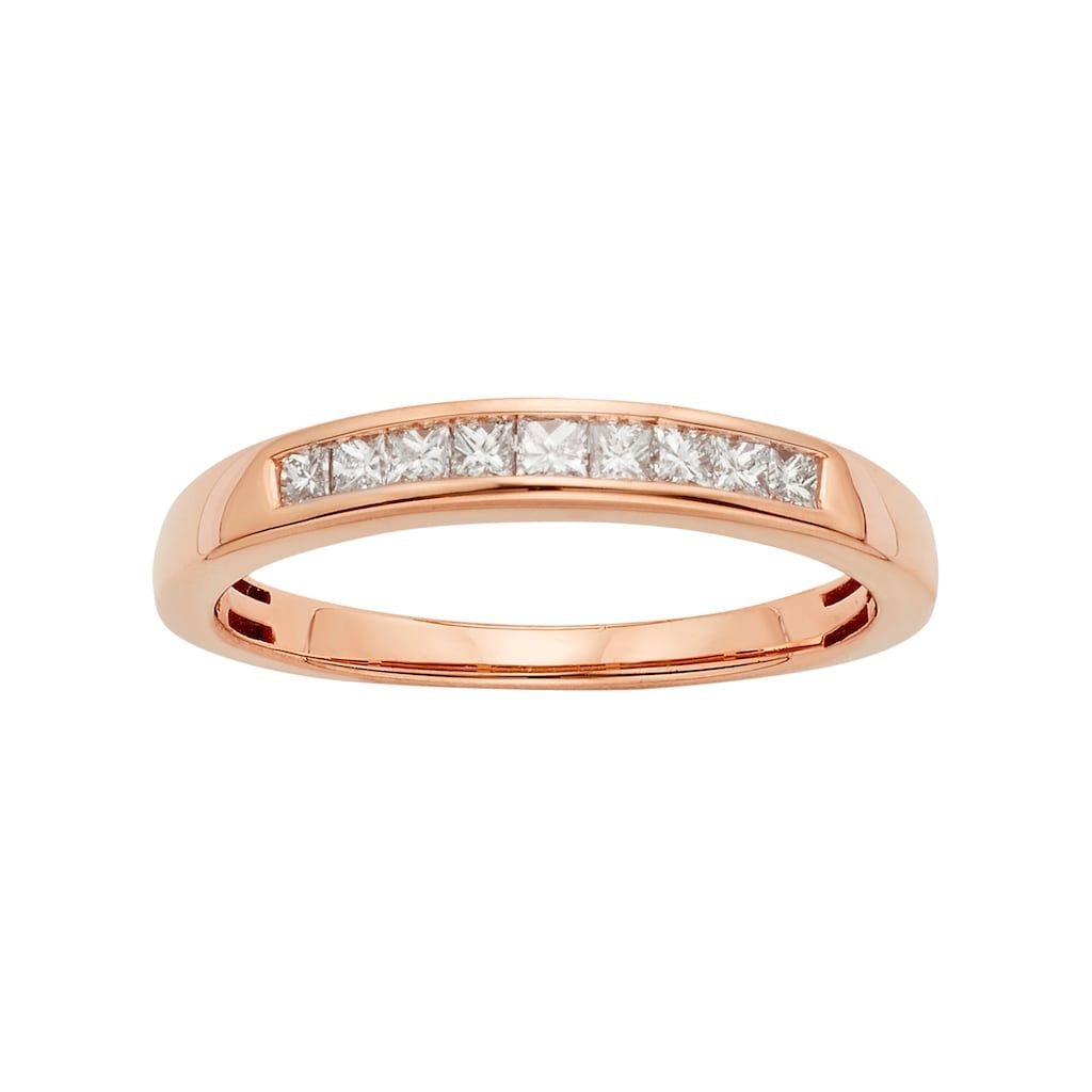 Featured Photo of Certified Diamond Anniversary Bands In Rose Gold