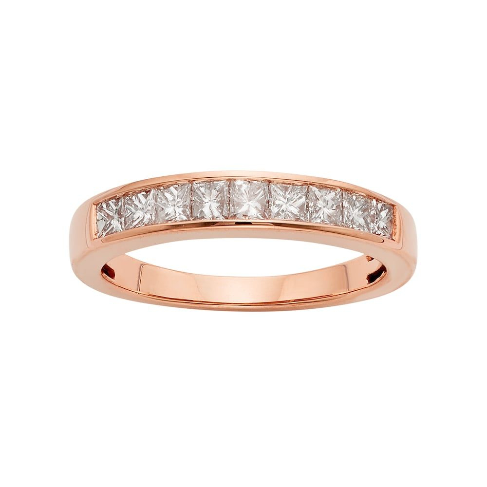 14K Rose Gold 3/4 Carat T.w (View 7 of 25)