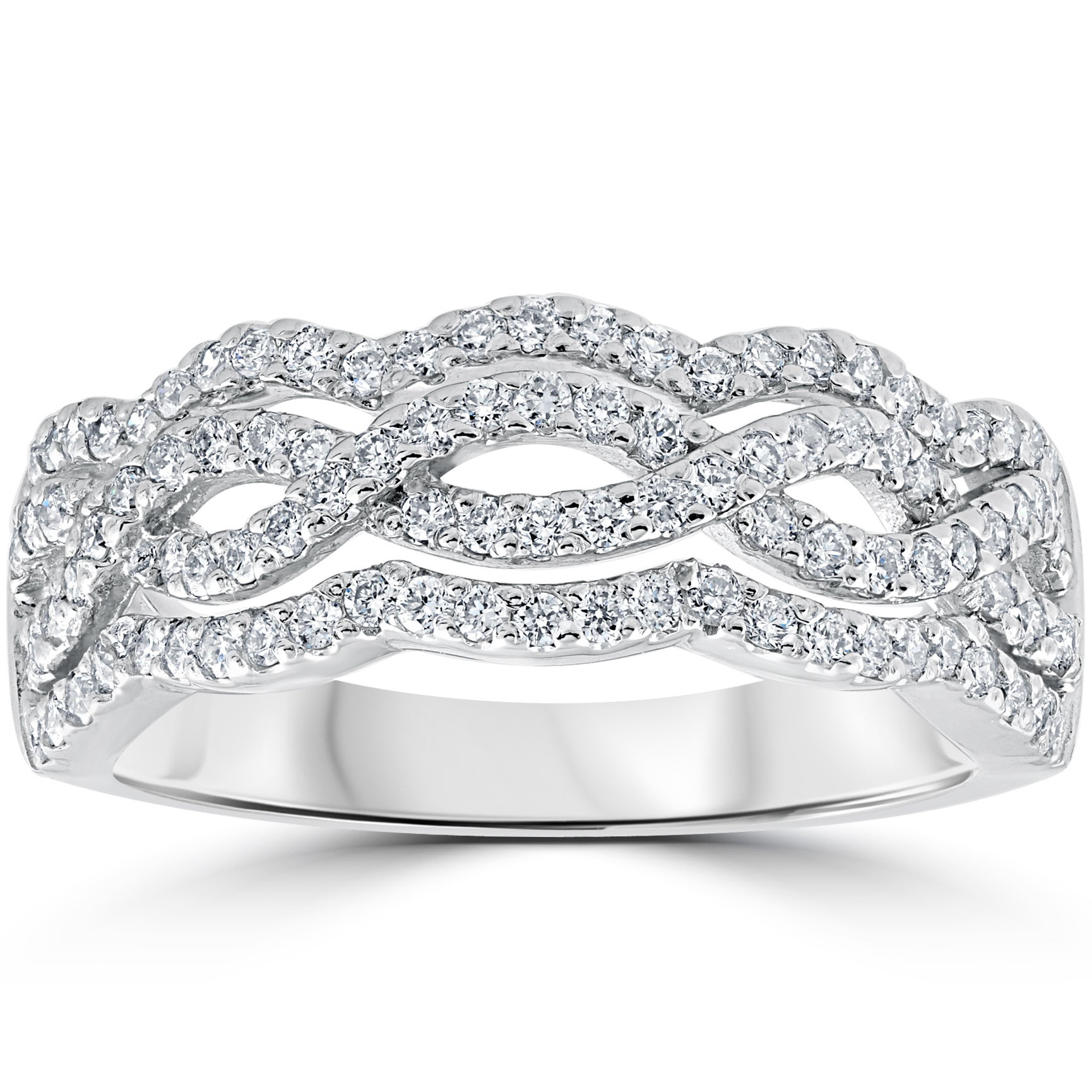Featured Photo of Diamond Multi Row Anniversary Ring In White Gold