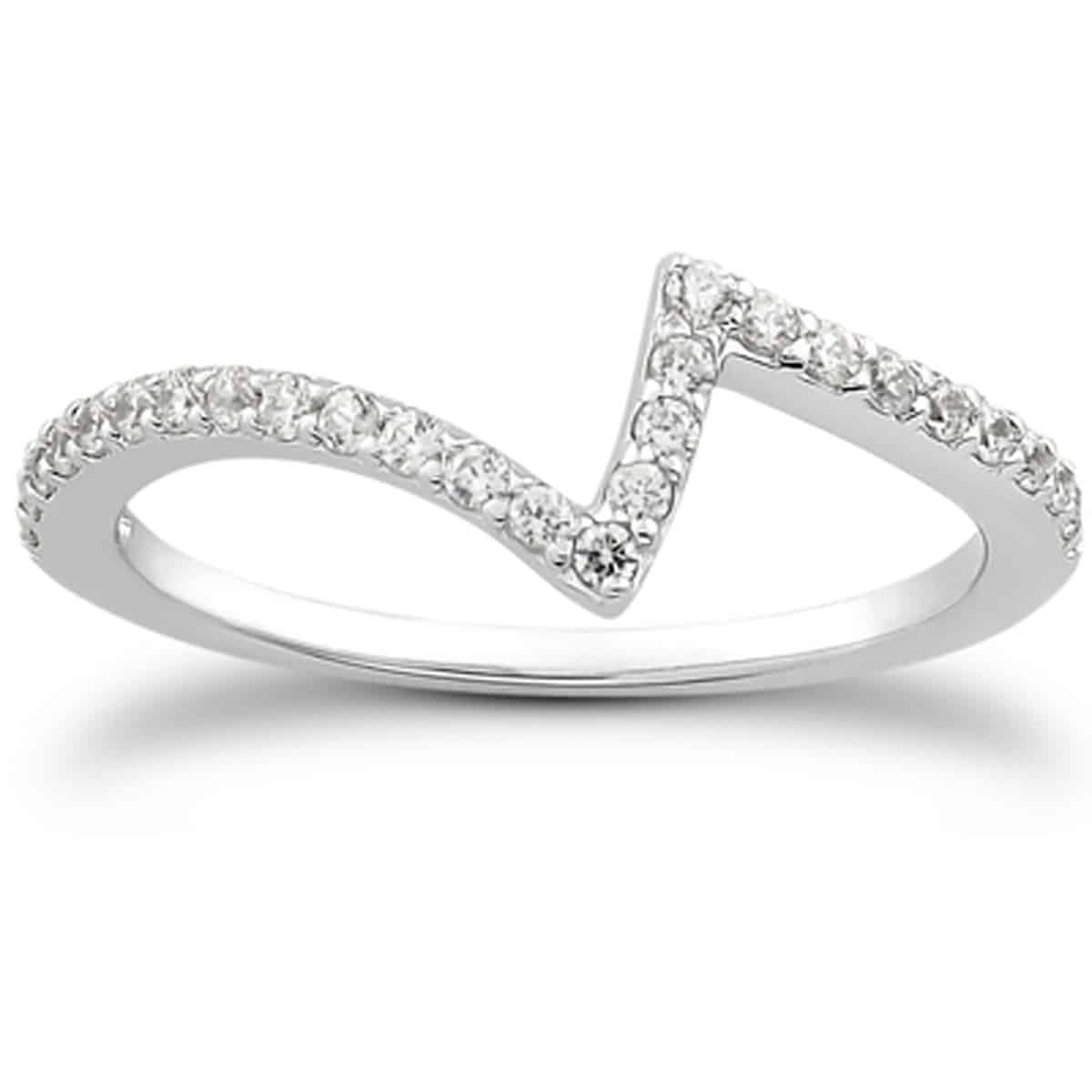14K White Gold Fancy Zig Zag Pave Diamond Wedding Ring Band | Diamond  Designs | Orange, Ct Jewelry Store Intended For Most Recent Diamond Zig Zag Anniversary Rings In White Gold (View 6 of 25)