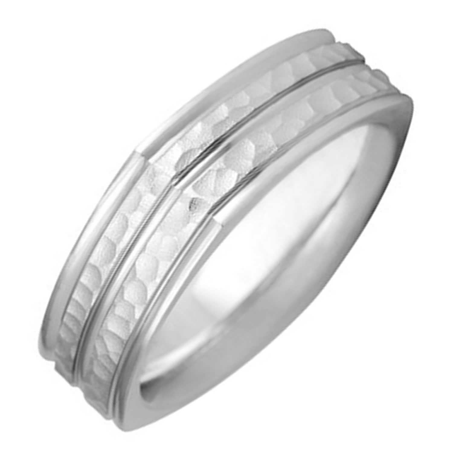 14K White Gold Two Stripes Unique Band 7Mm  3005698 – Shop At With Most Up To Date White Stripes Rings (Gallery 5 of 15)