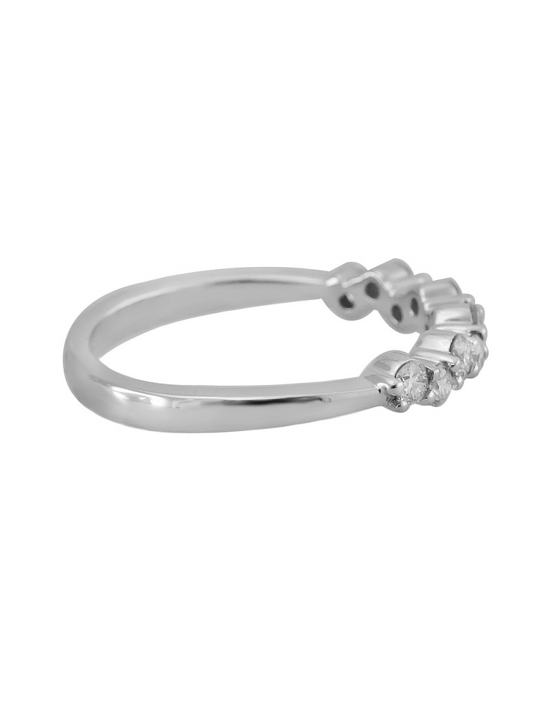 14K White Gold Zigzag 1/2Ct Round Diamond Anniversary Band Ring With Regard To Most Current Diamond Zig Zag Anniversary Rings In White Gold (View 8 of 25)
