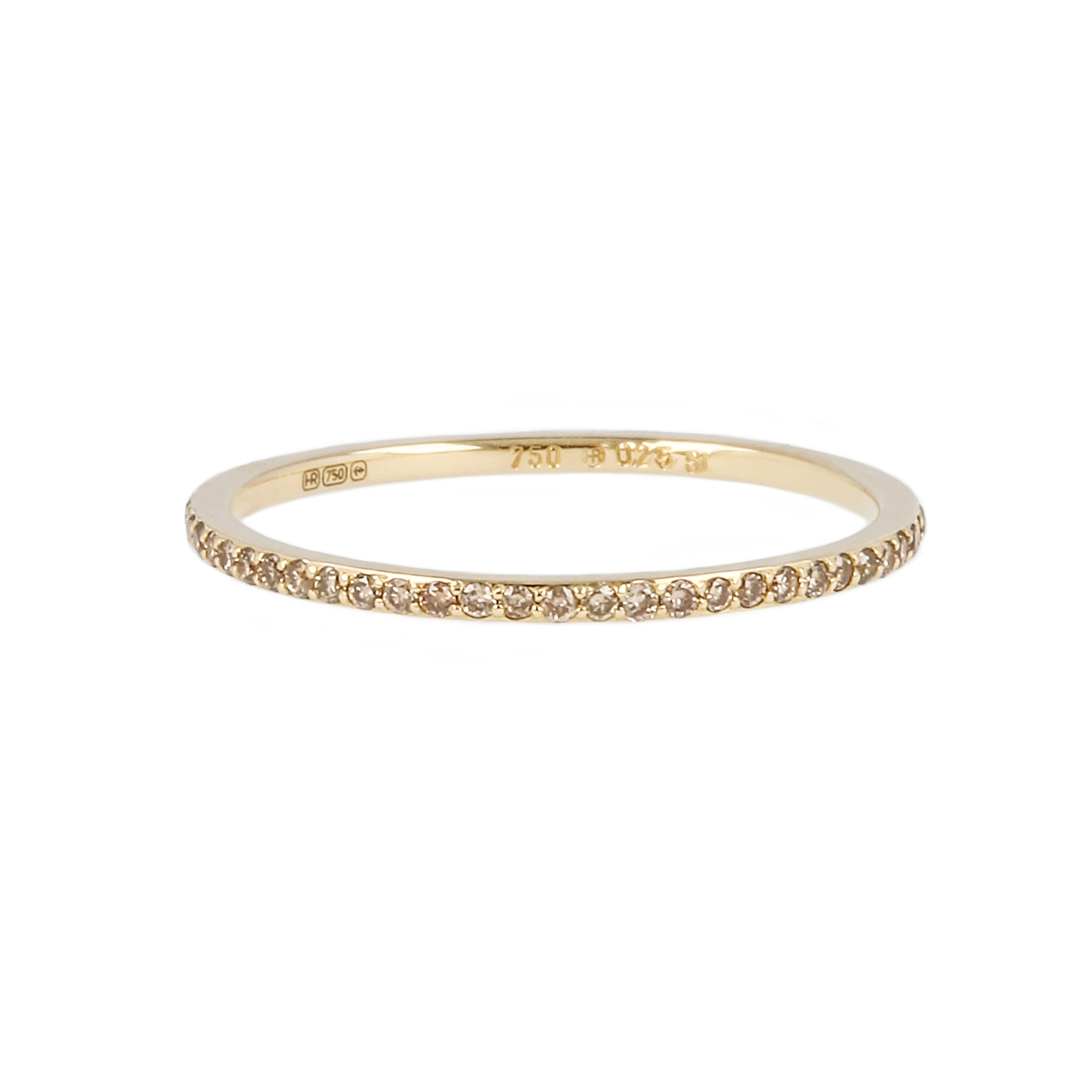 14K Yellow Gold & Champagne Diamond Eternity Ring With Best And Newest Champagne Diamond Anniversary Bands In White Gold (View 4 of 25)
