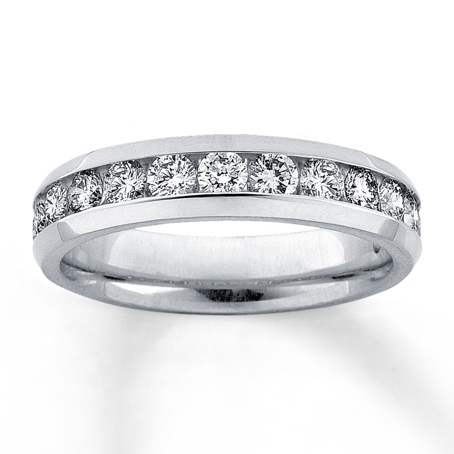 14kt White Gold Channel Set Diamond Band Within Best And Newest Diamond Channel Set Anniversary Bands In White Gold (View 7 of 24)