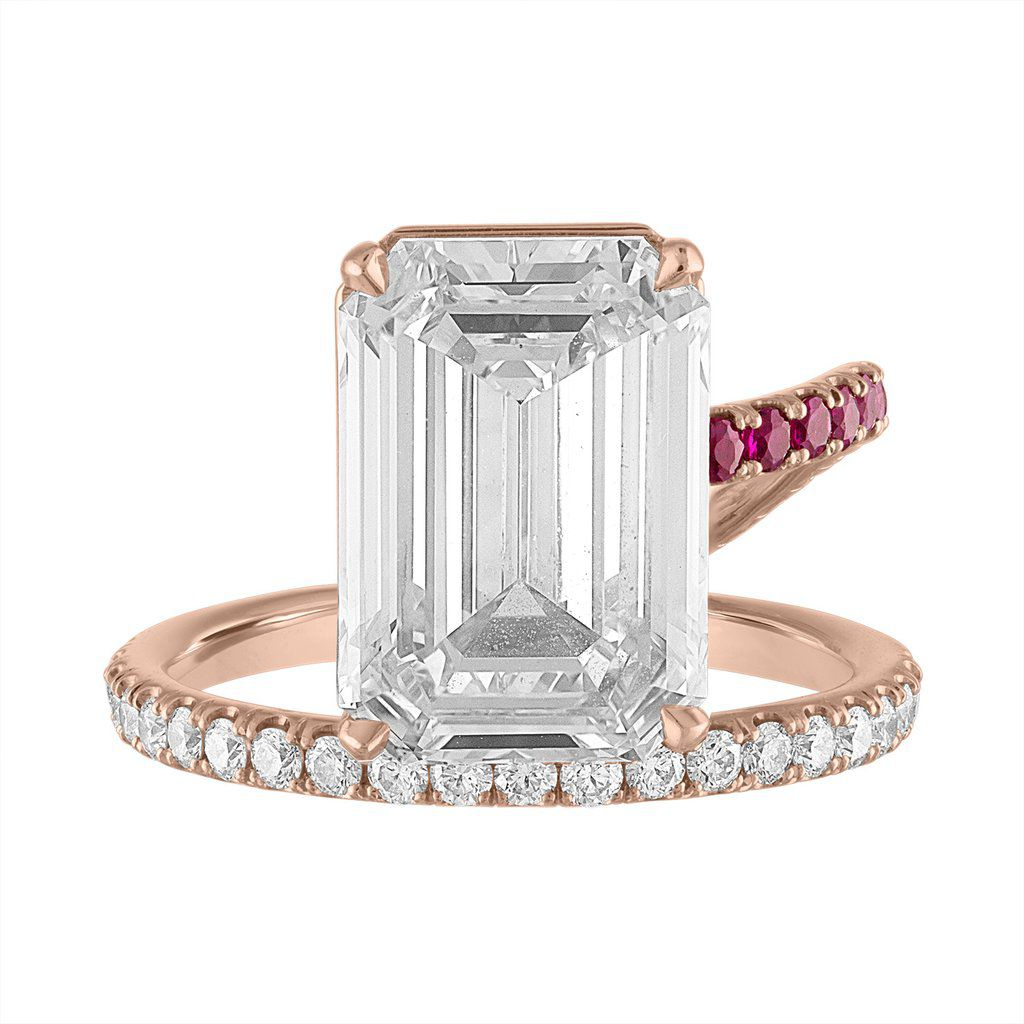 15 Engagement Ring Trends For 2019 Throughout Most Current Diamond Five Stone Swirl Anniversary Bands In White Gold (View 18 of 25)