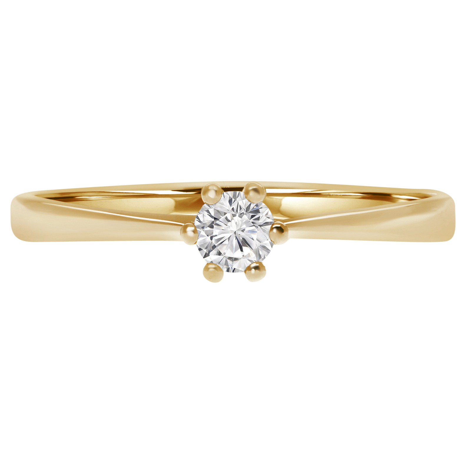 16 Ct Ring Gold Yellow 10K Engagement Solitaire Diamond With Regard To Most Popular Certified Diamond Five Row Anniversary Bands In White Gold (View 9 of 25)