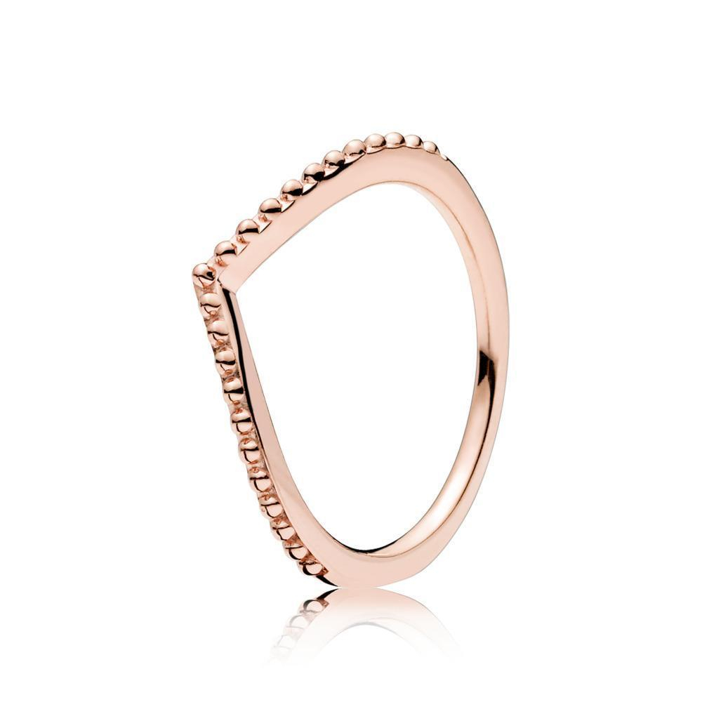 186315 Beaded Wish Wishbone Pandora Rose Ring In 2019 | Wish List In Most Up To Date Beaded Wishbone Rings (View 2 of 25)