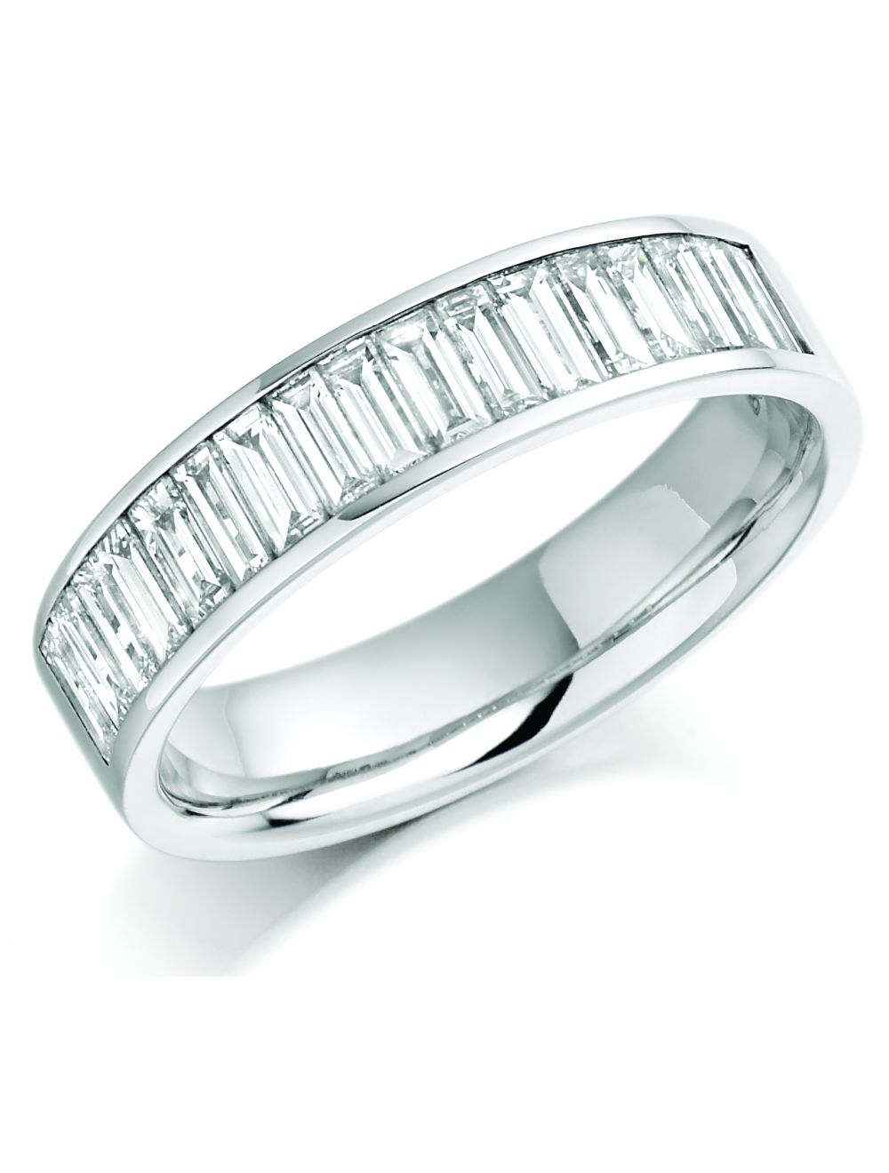 18Ct White Gold Channel Set Baguette Diamond Eternity Ring Pertaining To Recent Baguette Diamond Channel Set Anniversary Bands In White Gold (View 6 of 25)