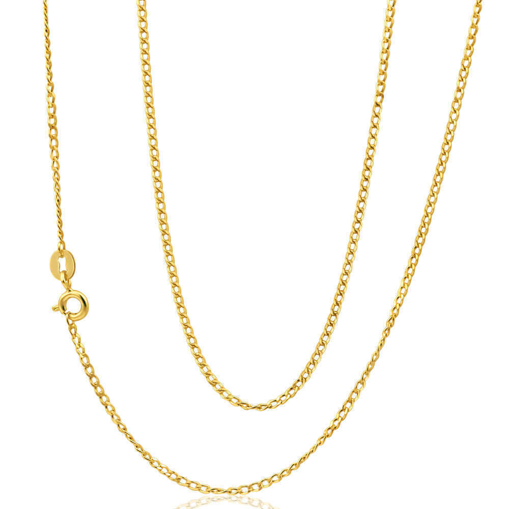 18K Gold Curb Chain Necklace 20 Inch 8 1/2 Grams Inside Current Curb Chain Necklaces (View 1 of 25)