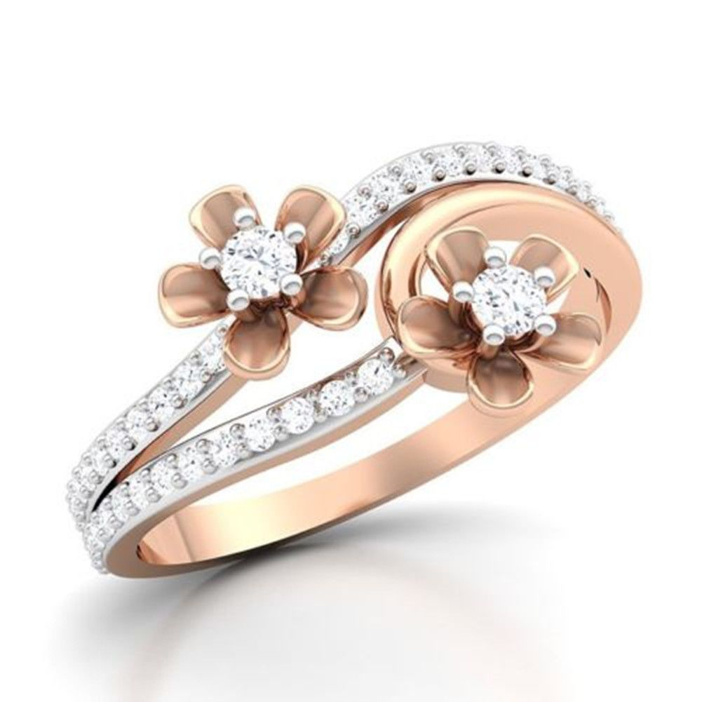 18K Rose Gold Filled Daisy Flower Rings About  (View 2 of 25)