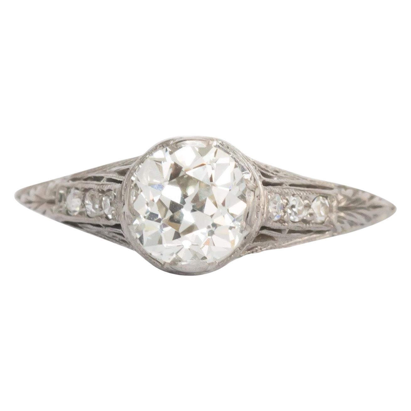 1920s Engagement Rings – 745 For Sale At 1stdibs Inside Latest Diamond Frame Five Stone Anniversary Bands In White Gold (View 10 of 25)